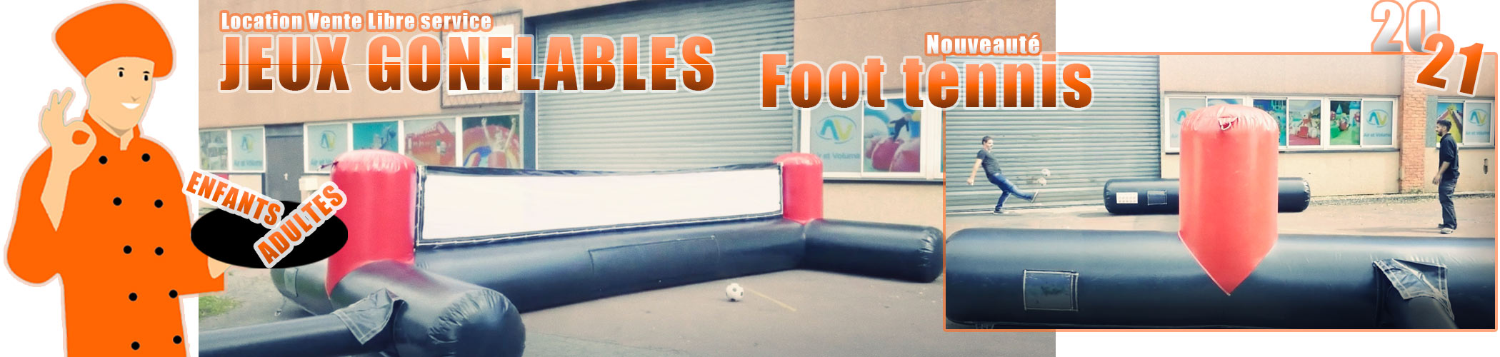 location vente jeux gonflables foot tennis enfants adultes Elite Animation